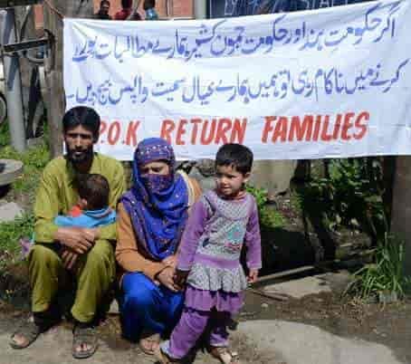 Ex- militant protests