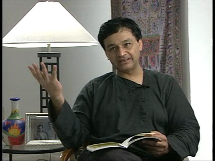 Agha Shahid Ali, around 1998 (Image from the interview for the 'Poets of New England' series with William Moebius)