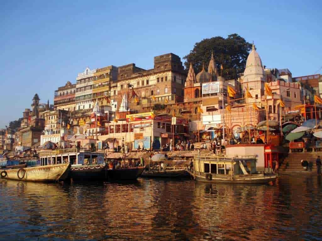 A ghat in Banaras.