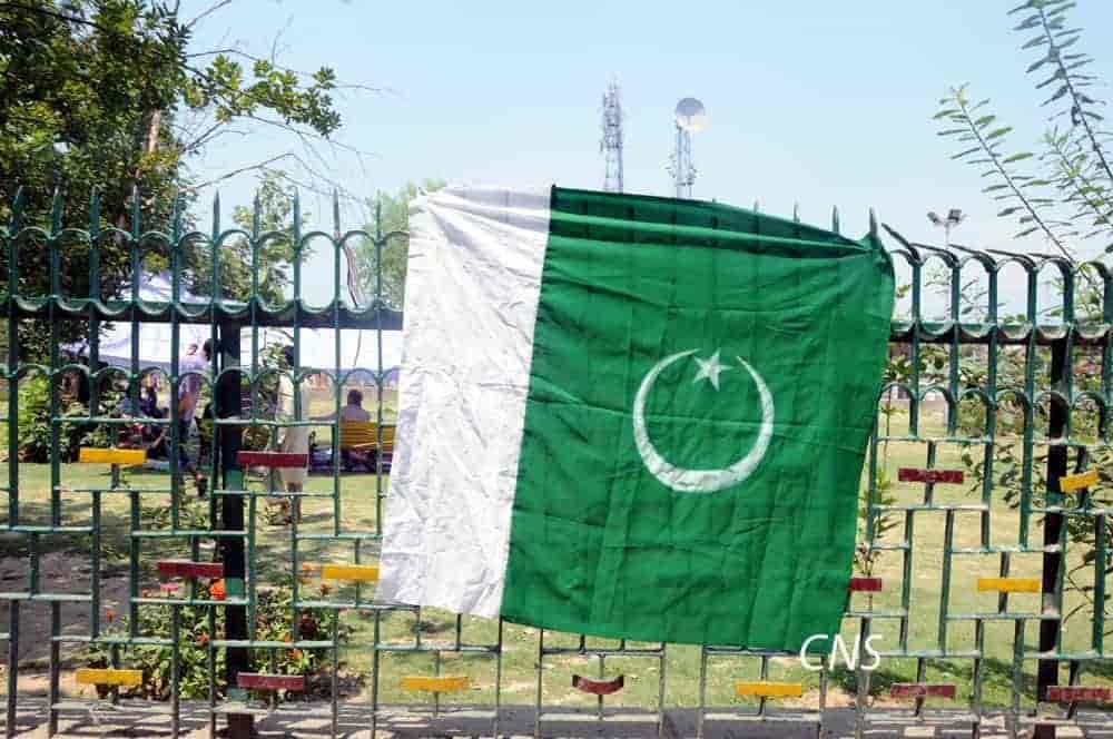 Pakistani flag unfurled in Srinagar