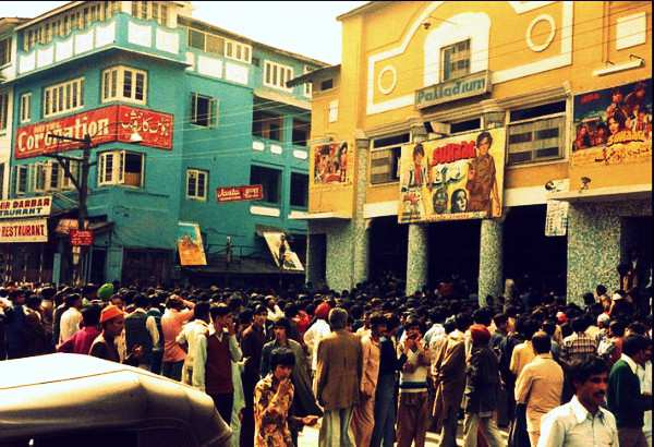palladium cinema srinagar, 1980s