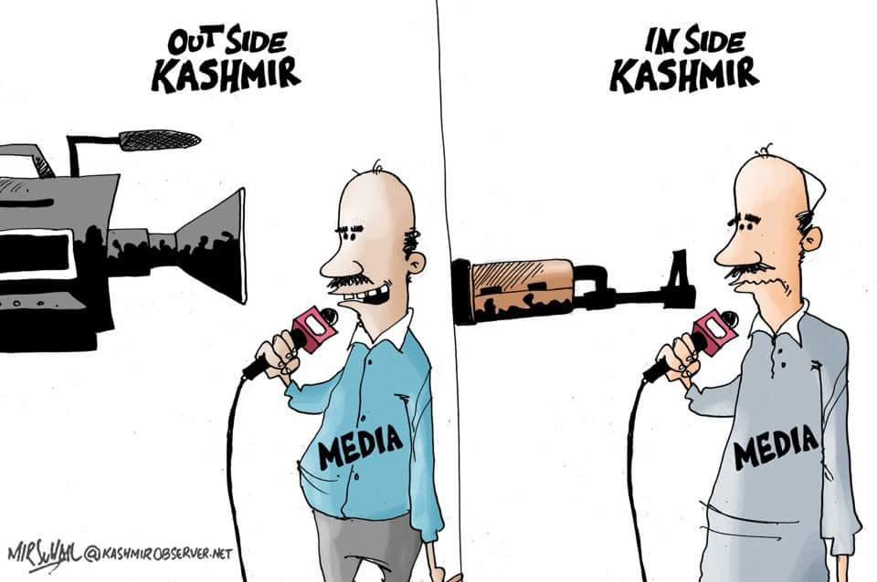 Cartoon by Mir Suhail (Kashmir Observer)