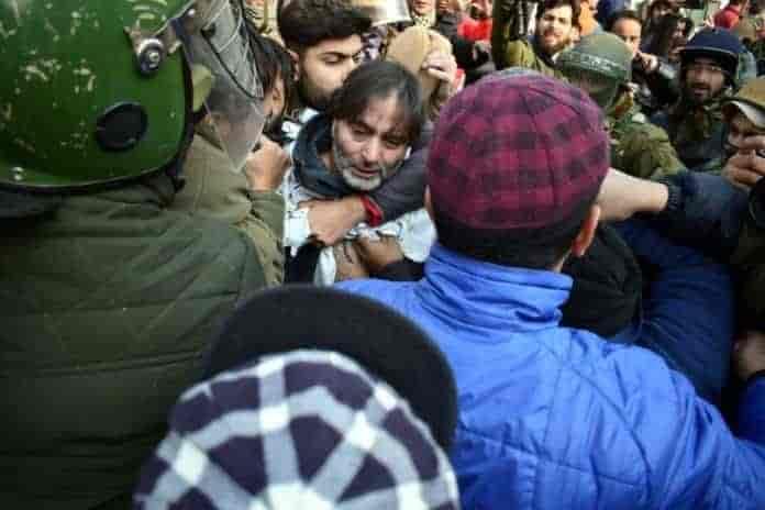 Kashmir, kashmir news, srinagar, badami bagh, yasin malik