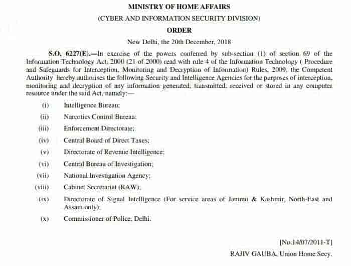 kashmir, delhi, mha, home ministry order, it act in india