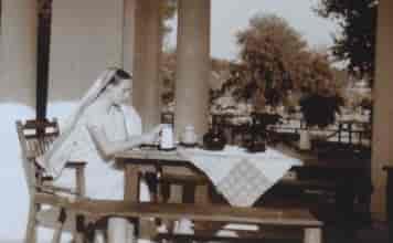 F Freda Bedi in Lahore, mid-1930s.