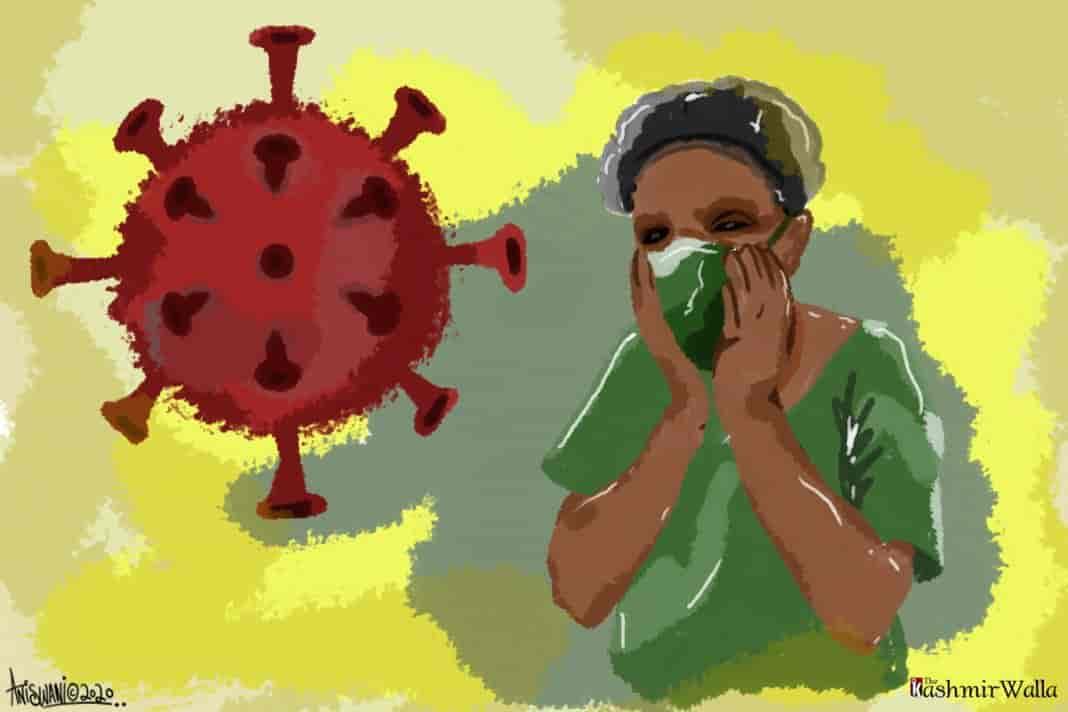 coronavirus kashmir, kashmir covid nurse, kashmir covid 19, kashmir healthcare staff,