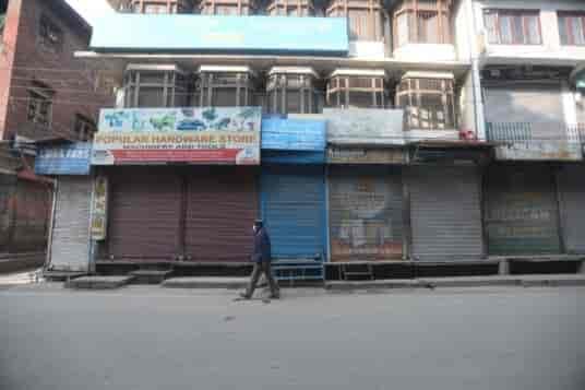 Srinagar shutdown