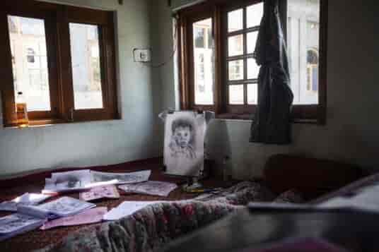 Kashmir graffiti artist
