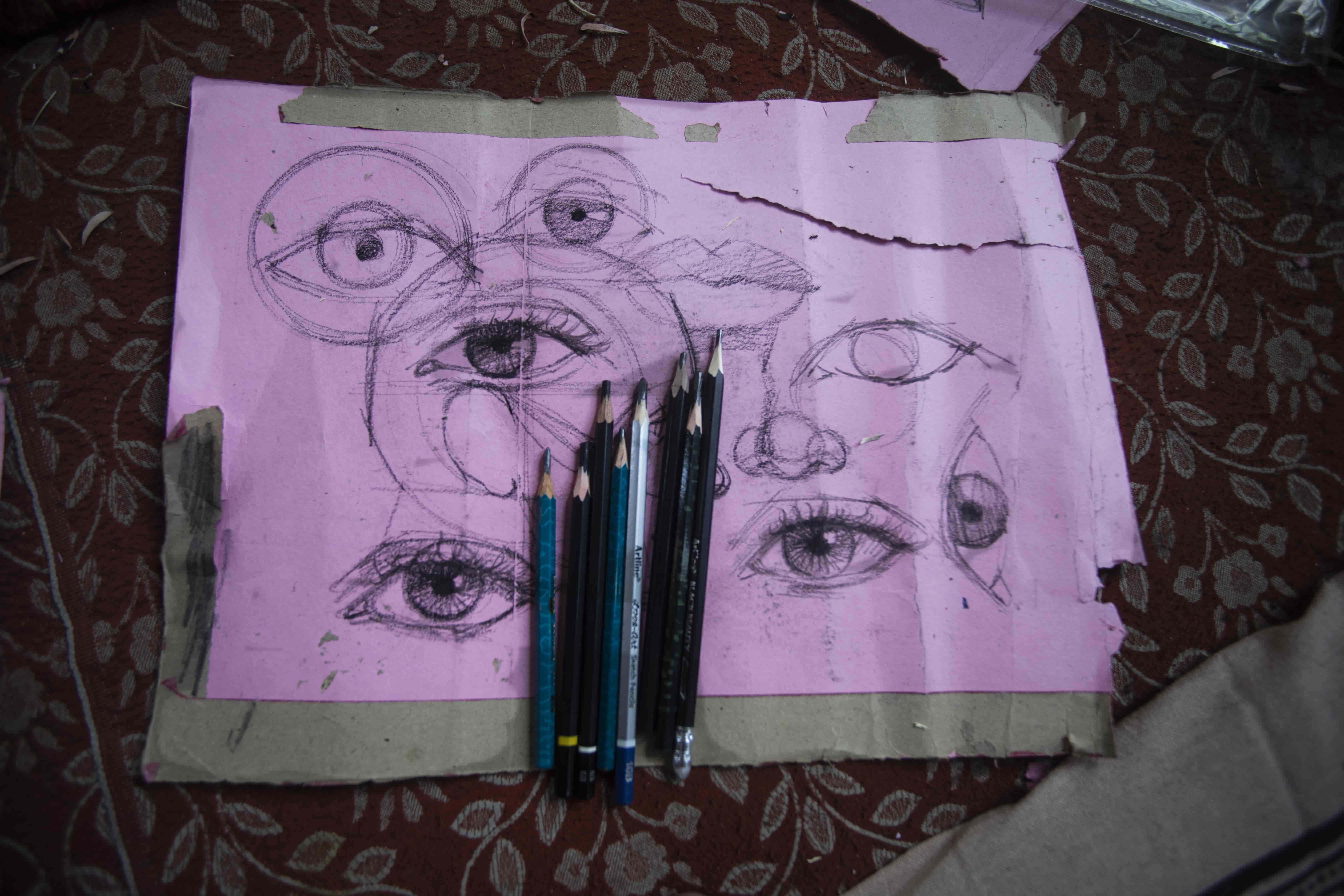 kashmiri artist, kashmir sketch